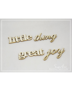 "Napis ""little thing great joy"" - 1szt."