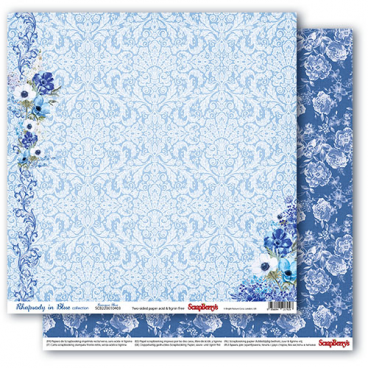Dwustronny papier do scrapbookingu Rhapsody in Blue ScrapBerry's