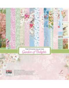 Zestaw 12*x 12* - papiery do scrapbookingu Garden of Delights -  ScrapBerry's