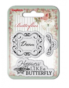 Zestaw stempli 7*7cm-Butterflies – Dream - ScrapBerry's
