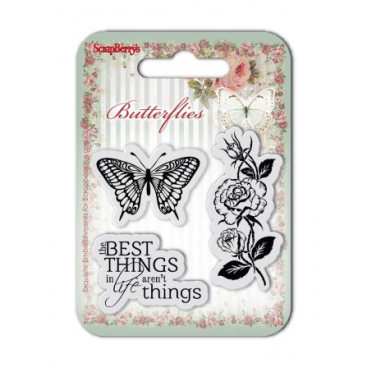 Zestaw stempli 7*7cm- Butterflies – The Best Things  - ScrapBerry's