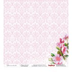 Dwustronny papier do scrapbookingu Florar Embroidery ScrapBerry's