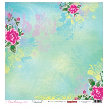 Dwustronny papier do scrapbookingu Floral Embroidery ScrapBerry's