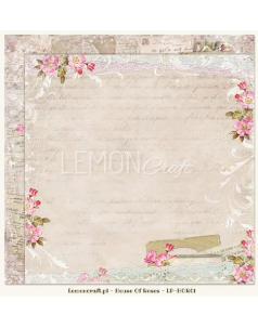 Lemon Craft papier do scrapbookingu - Dom Róż 01