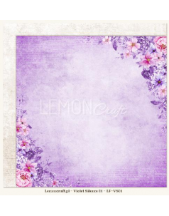 Lemon Craft papier do scrapbookingu - Violet Silence 01