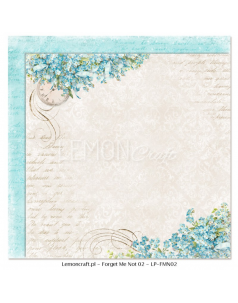 Lemon Craft papier do scrapbookingu - Nie zapomnij mnie 02