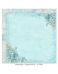 Lemon Craft papier do scrapbookingu - Nie zapomnij mnie 01