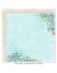 Lemon Craft papier do scrapbookingu - Nie zapomnij mnie 06