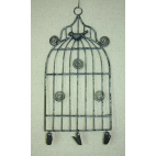 Klatka metalowa - wieszak/holder shabby chic