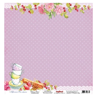 Papier do scrapbookingu Afternoon Tea Cherry Flavor ScrapBerry's