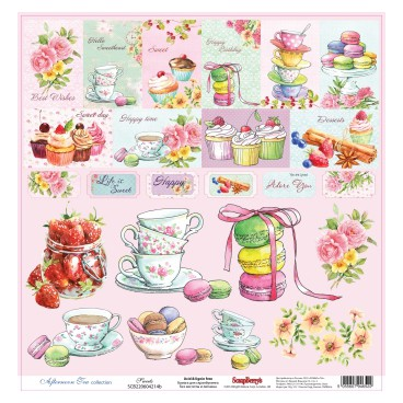 Papier do scrapbookingu Afternoon Tea Sweets ScrapBerry's