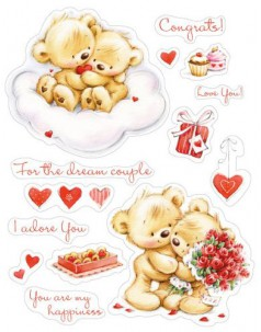 Zestaw stempli 10*11cm- My little Bear- To Wonderful couple -ScrapBerry's