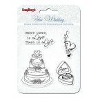Zestaw stempli 10,5*10,5cm-Wedding - ScrapBerry's