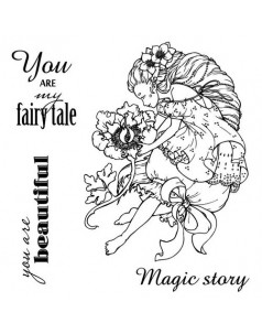 Zestaw stempli 10,5*10,5cm- Fairy Tale:You are my Fairy Tale - ScrapBerry's